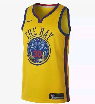 timeless design a7f4a 4b0b3 NIKE STEPH CURRY Jersey City Edition Brand New Sz large 912101-728 Golden  State