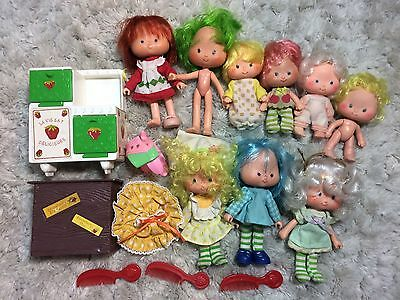Vintage Strawberry Shortcake Lot Dolls And Accessories 1980s Retro Kids Toys Ssc