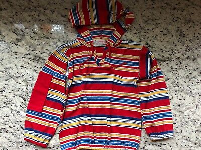 Vintage Healthtex Bigger size Boys Striped hoodie Toddler / child marked size 7