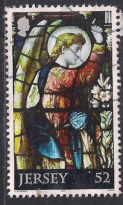 Jersey 2015 52c Christmas used stamp ( D1194 )