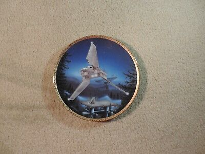 Star Wars Imperial Shuttle Plate Space Vehicles Hamilton Collection 1995