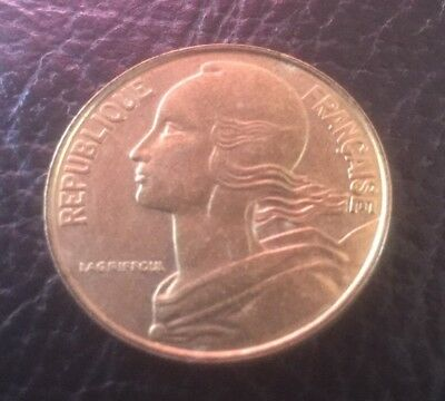 1977 Republic Of France 20 Centime Coin Collect School Project *Free Au Post*