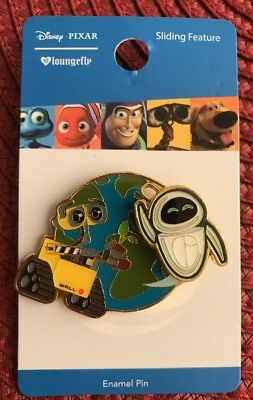 Disney Pixar WALL-E And EVE Flying Above Earth Enamel Pin New