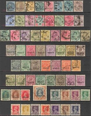 India Queen Victoria - Modern Mini-Collection of 118 Different Used Officials
