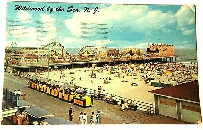 Postcard Wildwood By The Sea, New Jersey 1962, Hunt'S Pier, Posted