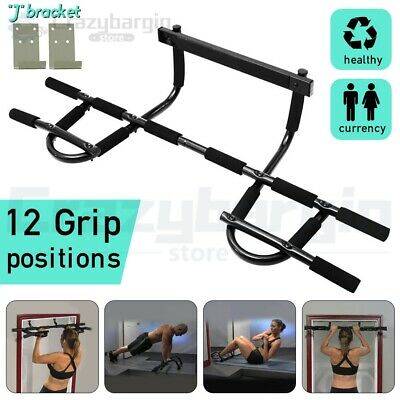 Gym Doorway Portable Chin Up Bar Chinup Pullup Exercise Door Station Workout Au