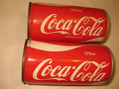 Old Steel Coca Cola cans.