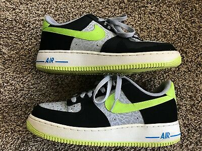 timeless design 7adbd 02b99 Nike Mens Air Force 1 Low Reflective Silver Volt Sneakers Shoes sz US 8