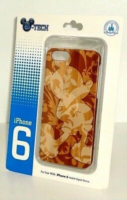 Disney D-Tech Mickey WOODEN TEXTURE iPhone 8/7s/7/6s/6 Clip iPhone Case NEW