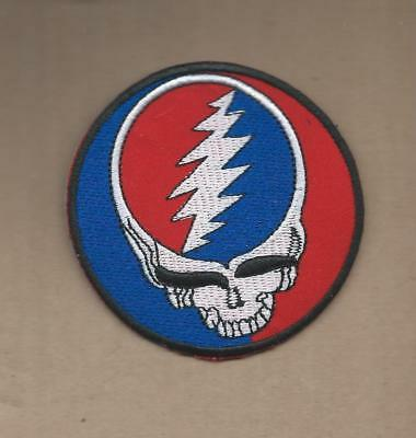 New 3 Inch Grateful Dead W/bolt Iron On Patch Free Shipping M2