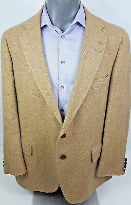 Vintage Donald Brooks Men's 44R Beige Camel Hair Jacket Blazer Sport Coat