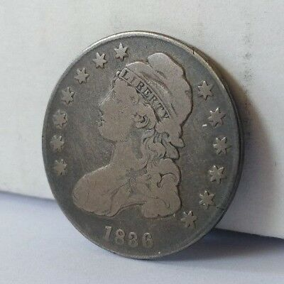1836 Capped Bust Silver Half Dollar U.S. Coin Lettered Edge 50c Fifty Cent