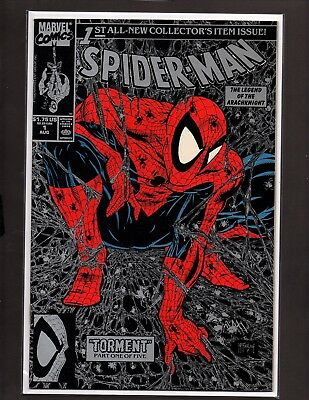 "SPIDER-MAN #1 Silver NM+ (Aug 1990, Marvel) Todd McFarlane Art ""TORMENT Part 1"""