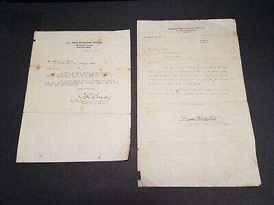 1917 WW1 US Navy and British Royal Navy Recruiting Letters