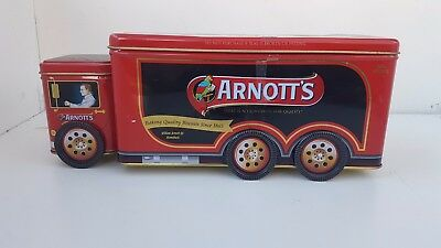 arnotts biscuits collectable classic tin truck (2010)