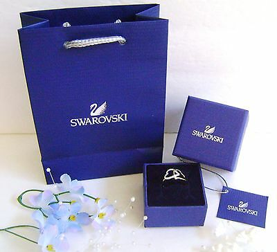 Swarovski 1062711 Authentic Signed Crystal Heart Match Ring Size 7/ 55 / M