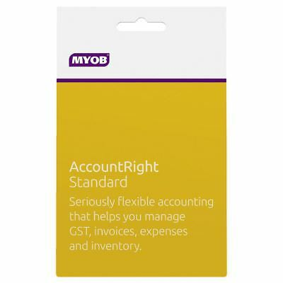 NEW MYOB Account Right Standard for Windows Based PC Only - 12 months Subscripti