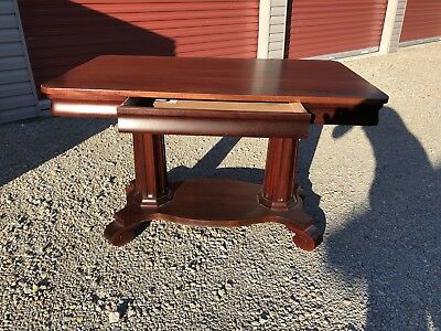 Mahogany Empire Library Table