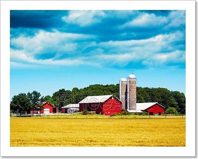American Farm Art Print Home Decor Wall Art Poster - G