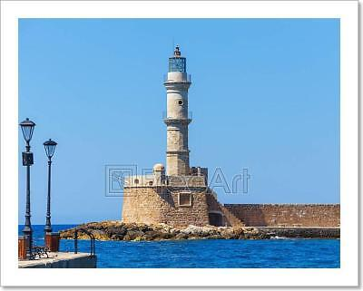 View Of The Old Port And Lighthouse In Art Print Home Decor Wall Art Poster - H