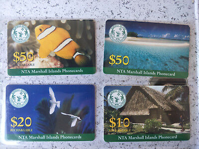 NTA Marshall Islands Phonecards appear to be Specimen/Sample cards