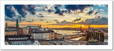 Panorama Of  Stockholm, Sweden Art Print Home Decor Wall Art Poster - F