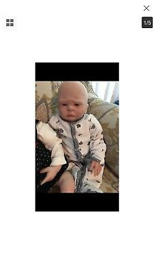 reborn baby dolls two girls and boy used shelf kept not played with excellent c