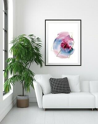Wall Art Print ,A4 & A3, Watercolour, Home Decor, Abstract, Modern, Unframed