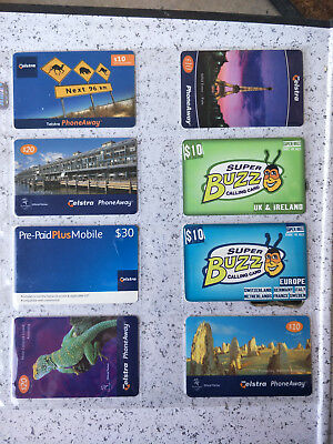 Telstra Phoneaway & Super Buzz Card Group with card page