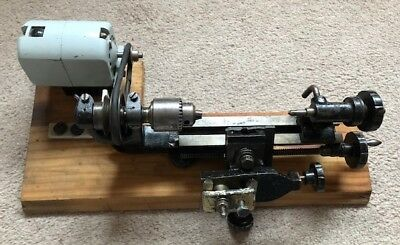 SUPER ADEPT WATCHMAKERS LATHE SA-1 WITH SEW-TRIC 50w MOTOR