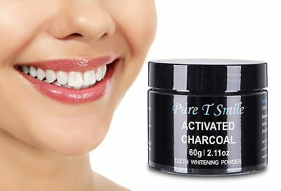 Pure T Smile 100% Natural Activated Charcoal Powder Teeth Whitener Toothpaste...