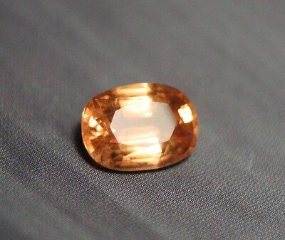 1.68ct Pastel Peach Mahenge Garnet - Clean Precision Custom Cut Gem