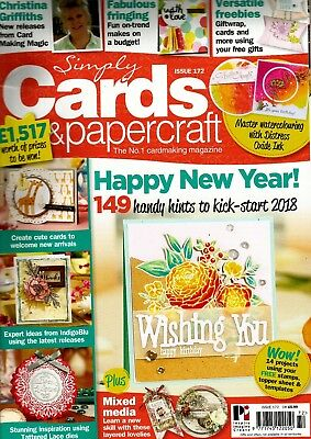 SIMPLY CARDS & PAPERCRAFT  MAGAZINE ISSUE 172.  2018   FREE GIFT (see details)