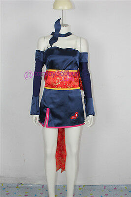 Dead or Alive 3 Ayane Cosplay Costume include headwear and long stockings