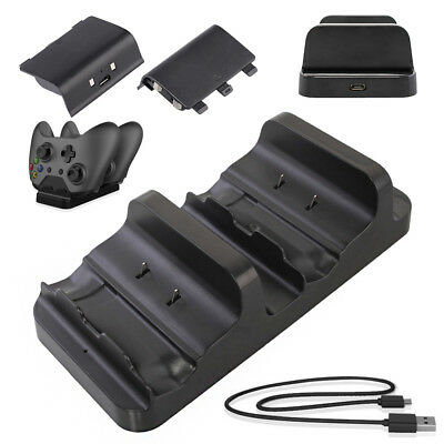 USB Controller Charger Docking Station 2 x Rechargeable Battery for Xbox One