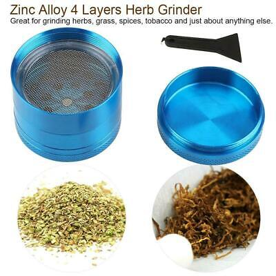 Tobacco Spice Grinder 4 Piece Spice Mill Zinc Alloy Crusher Pepper Shredder