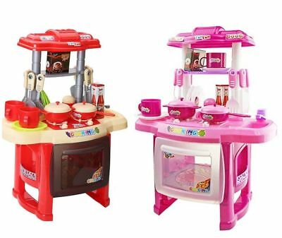 24Pcs/Set Electronic Children Kids Play Kitchen Cooking Toys Role Pretend Cooker