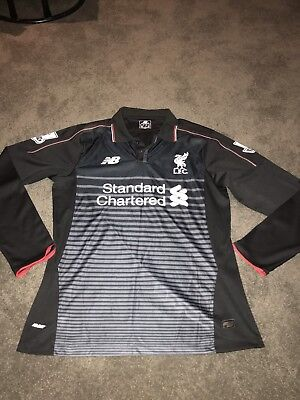 Mens Authentic Liverpool FC Sturridge 15 Long Sleeve Jersey Top