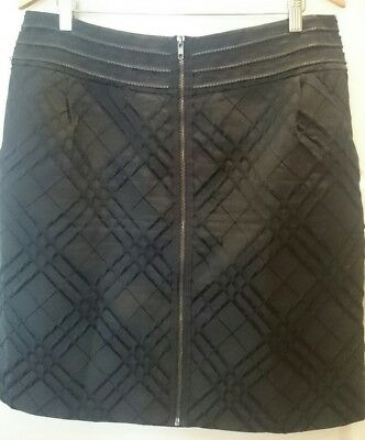 Jacqui.E Stunning Skirt in Black Jacquard with Exposed Zip Size 16