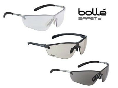 Bolle Silium Platinum Safety Glasses Clear, Smoked or CSP Ergonomic EN170 EN172