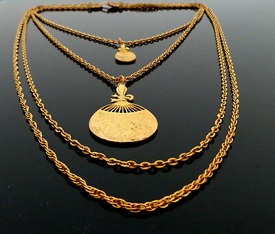 1960s Elegante 4 Strang Halskette, Kette, Collier, Collana,Beautiful Necklace