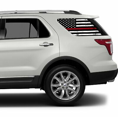 Red Window Tint >> Universal Thin Red Line American Flag Window Tint Perforated