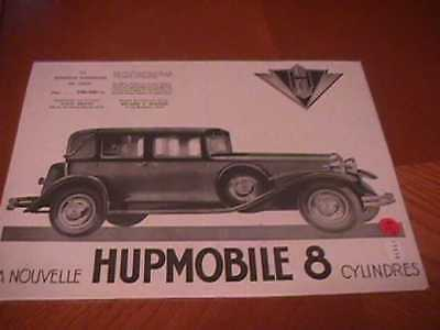 Hupmobile 8 Auto Ad - (1930) - In French
