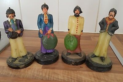 THE BEATLES Set of 4 Candles Ringo, Paul, George and John