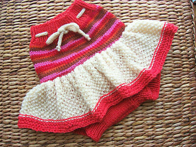 Diaper Cover Hand Knit Handmade Baby Wool Diaper Cover-Skirt size Medium