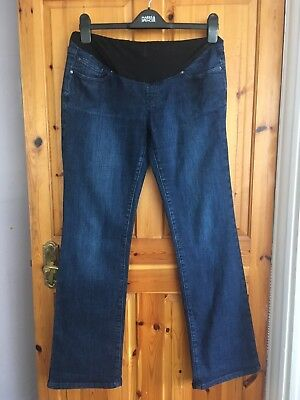 Blooming Marvellous over bump maternity jeans size 14, boot cut style