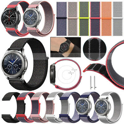 Nylon Woven Sport Loop Bracelet Watch Band Strap For Smart Watch 20mm 22mm