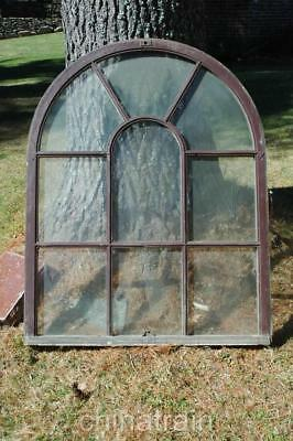 Antique Vintage Arched Half Moon Circular Double Sash Window 44 x 111.5