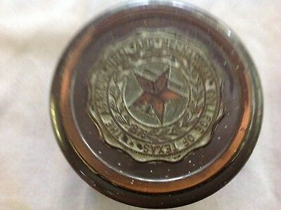The Agricultural And Mechanical College Of Texas Bronze Stamp Dispenser