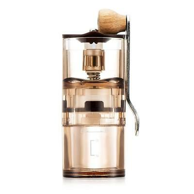 Manual Hand Coffee Grinder Transparent With Adjustable Conical Ceramic Burr Mill